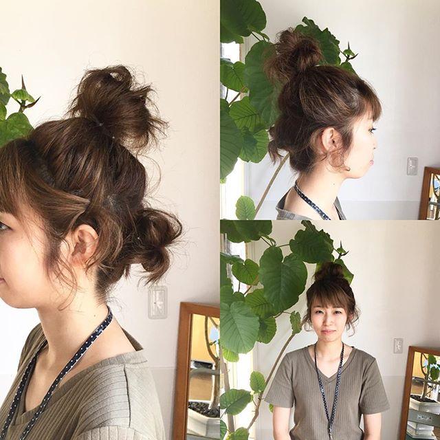 久しぶりに更新します。最近怠けてたので笑今日のセットは夏仕様でお団子スタイルにしてもらいました!暑い日には髪の毛上げたほうが涼しくて快適ですね^ ^ショートヘアのアレンジ色々できます!ご来店お待ちしてます!#富士宮美容室#ヘアアレンジ #フェリーチェ #お団子ヘア #夏#ショートヘアアレンジ