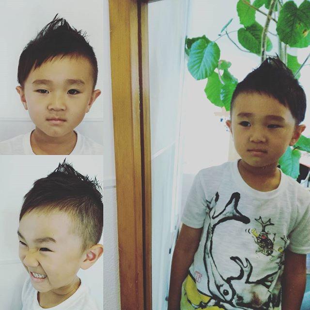 さっぱりと切りました!#富士宮美容室 #富士宮市美容院 #子供カット #男の子髪型 #フェリーチェヘア#富士宮#ヘアカット