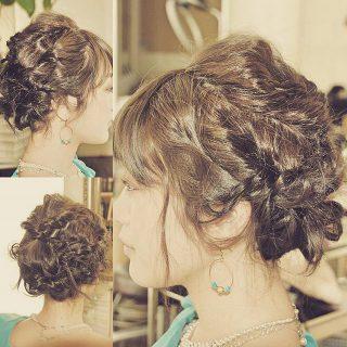 結婚式のゲストヘアアレンジ