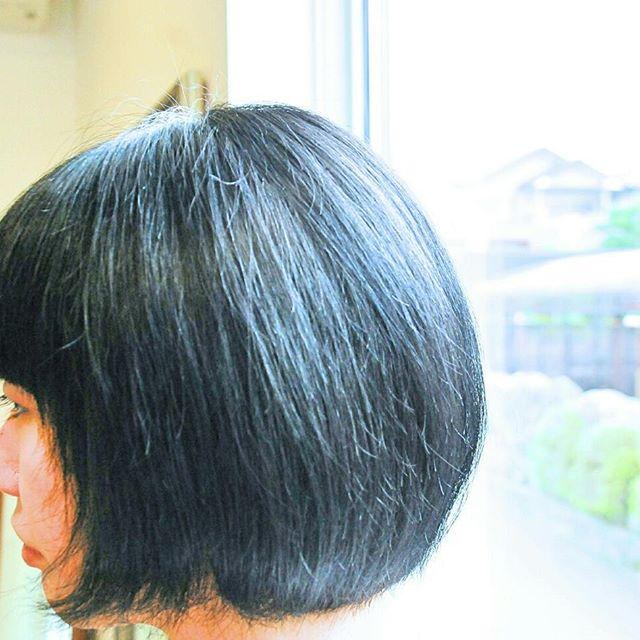 暗い赤にした髪色がだいぶ色褪せてきて、· ·今度は暗めの青にしたいとのこと。 · ·チャコールアッシュになった。 · ·どんな感じで色褪せていくかも楽しみな髪色。#富士宮美容室#富士宮美容院#富士宮#美容院#美容室#フェリーチェヘア#アッシュ#ヘアカラーアッシュ#チャコールアッシュ#felicehair#暗めのアッシュ#ヘアカラー